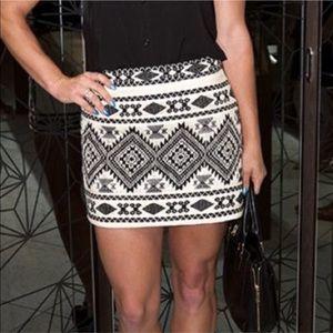TopShop textured mini Aztec skirt